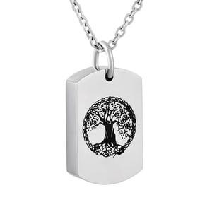 IJD9802 árbol de la vida cremación las cenizas joyería Hold humano o animal doméstico cenizas del recuerdo de la urna colgante de acero inoxidable collar Memorial