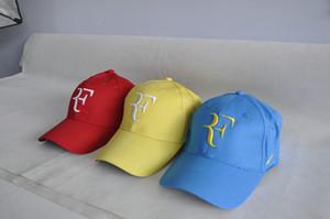 Tenis şapka erkekler 2018 Roger Federer RF Hibrid Beyzbol Kapaklar Tenis Raketi Şapka Snapback Kap Tenis Kap