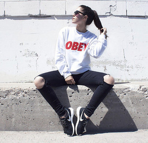 Streetwear Women Casual Loose Top Hoodie Print Sleeved Male O-Neck T-shirt Sweatshirt Pullover Long White Lovers Color Men Sweatshirt Kilw