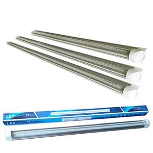 2 3 4 5 6 8Ft Tube LED lumières en forme de V à double rangée de lumières d'intégration LED t8 ampoules à froid d'angle de faisceau 270 degrés