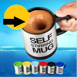 Automatico Elettrico Agitazione Tazza da caffè Miscela Tazza da caffè Acciaio inox 350ml Self Stirring Tazza da caffè in vetro latte