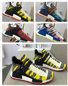 venta al por mayor 2018 Human Race Trail Holi zapatos, rayas endosante compatriota Pusha T. zapatos corrientes, Pusha T Presenta Pharrell Hu Amigos Familia