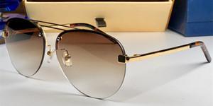 Nouveau luxe mens designer de lunettes de soleil lunettes de soleil sans cadre classique cadre vente chaude lunettes occasionnels en plein air protection uv400 lunettes de protection avec étui