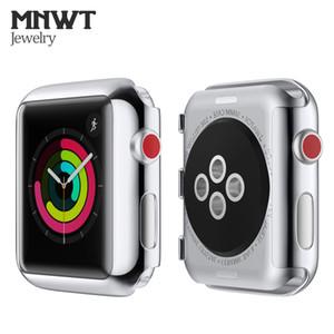 MNWT PC Plastic Funda protectora para Apple Watch 38mm 42mm Series 3 Colorida carcasa ultraplana Shell para iwatch All Protective