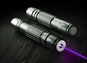 High Power 2000m 405nm Flashlight Violet Blue Laser Pointer  UV Purple Lazer Torch Detector,