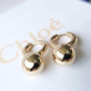 boucle d'oreille crochet élégant avec les femmes de boule en métal boucle d'oreille cadeau mère fille PS6728 bijoux