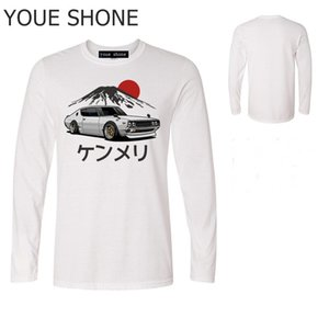 Şık Marka Erkekler T-Shirt Yaz erkek Serin T Shirt Arabalar grafik erkek Araba GTR T Gömlek Skyline Japon Araba uzun kollu Tees