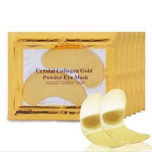 Negro Collagen Cristal Olho Máscara Gel Eye Patches para Sacos Olhos Anti Wrinkle Dark Circles Face Masks Cuidados com a pele