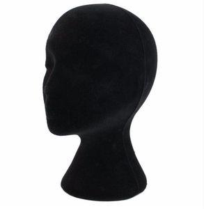 28 cm de Altura Feminina Espuma Manequim Manequim Cabeça Modelo Cabeça Mould Perucas de Cabelo Óculos Chapéu Display Stand Preto