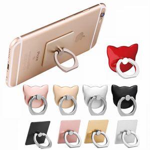 precio de fábrica 360 de rotación del anillo protector de la caja del sostenedor del anillo del dedo móvil posterior móvil bipedestador PC dropproof universal para iPhone Samsumg