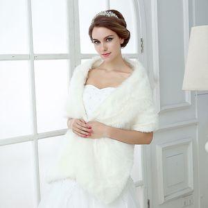 Дешевые свадебные накидки из искусственного меха голливудский гламур свадебные куртки уличный стиль мода прикрыть мыс украл пальто плечами платок болеро CPA1496