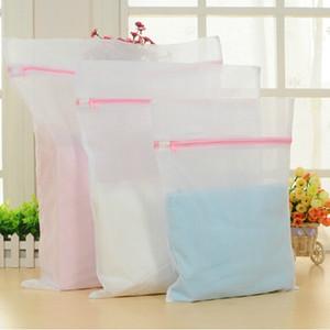 8 tamaños con cremallera plegable nylon bolsa de lavandería sujetador calcetines ropa interior ropa lavadora protección red malla bolsas C699