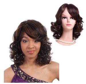 2017 новый европейский и американский короткий парик торговли, вьющиеся волосы, леди короткие волосы, косые челки, Оптовая прическа.