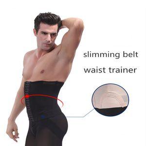 Erkekler Bel Eğitmen Zayıflama Kemeri Karın Redüktör Vücut Şekillendirici Iç Çamaşırı Kuşak Yağ Yanık Belly Bel Cincher Karın Giyotin Korse