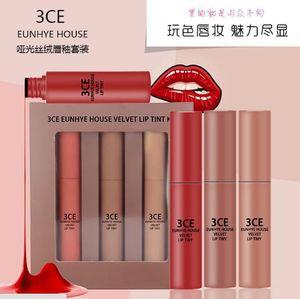 3CE Eunhye House Velvet Matte Lip Gloss Set Color de calabaza Lápiz labial antiadherente Copa Lip Glaze Maquillaje