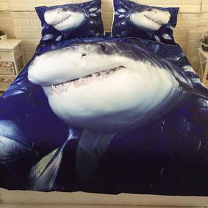 Dropshipping 3D Shark Bed Stampato da Letto Imposta Consolatore copertura copripiumino Regina King Size Bedding Doppio Singolo