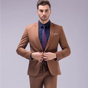 Wedding Suits for Men S Dress Suits Brown Green Burgundy Black Pink Men Tuxedos Groom Wedding Slim Fit Fashion Design In Stock