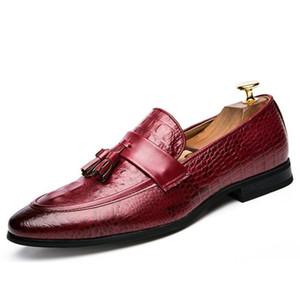 Design formale di lusso in vera pelle da uomo formale scarpe nappa punta a punta in pelle di mucca di alta qualità Oxford scarpe da uomo
