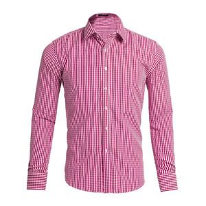 Горячие продажи Livraison gratuite плед нагрудные мужские с длинными рукавами рубашки хлопка Мужчины США бренд рубашки поло 100% Оксфорд повседневная рубашка маленькая лошадь