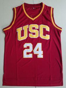 Vintage USC TROJANS 24 Brian Scalabrine College Basketball Jerseys MENS 33 Lisa Leslie 31 Cheryl Miller Rojo Rojo Universidad Universidad Steyed