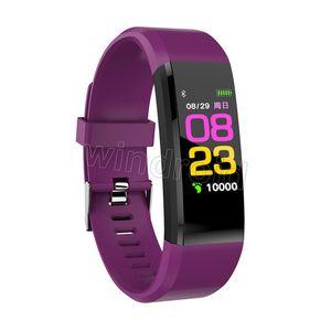 Tarifa 115 Plus Smart Heart for Screen Fitness Counter ID Watch Tracker Smart Pulsera Presión arterial Monitor Podómetro Pulsera PXLBF
