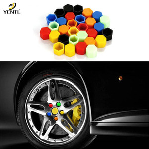free shipping yentl 20Pcs lot Car Silicone Luminous Wheel Hub Screw Covers Protector Caps Nut Bolt Rims Siliconel glow rubber Protective