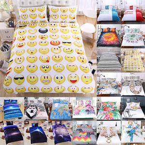 Bettwäsche-Sets 3pcs / set 3D Printed Luxusbettbezug Kissen- Start Bedding Supplies Weihnachten dekoratives Geschenk 45 Art-freie DHL HH7-1807