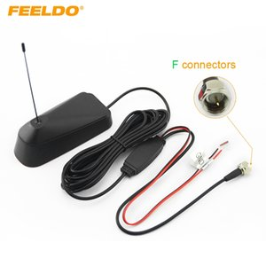 FELELO Car F Connector هوائي رقمي للتلفزيون الهوائي مع مكبر للصوت # 929
