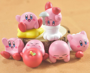 Hot New 6Pcs Lot 3CM-4CM Kirby Figure Anime Collectible Action Figures Best Gifts Toys
