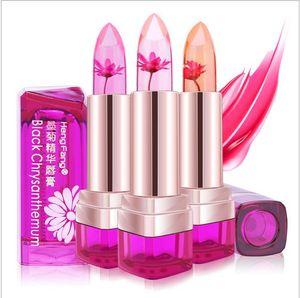 Cambiado de color crema hidratante nutritiva floral de frutas Sabores bálsamo para los labios Barras de labios maquillaje de los labios del lápiz labial nutritivo de temperatura