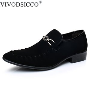VIVODSICCO Business Men Dress Shoes Moda Uomo Scarpe in pelle scamosciata Social Sapato Scarpe oxford uomo Flat Work Paty Scarpe da sposa