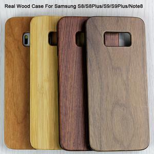 Caja del teléfono de madera del diseño personalizado para Samsung Galaxy S8 S9 Plus nota 8 s7 borde s6 Cubierta de madera del grabado único caso trasero duro para Iphone X 7 6S 8