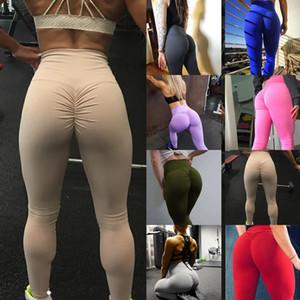 여성 하이 웨이스트 요가 피트니스 레깅스 리프트 버츠 바지 달리기 Gymwear 운동 타이츠 스트레칭 스포츠 바지 Activewear
