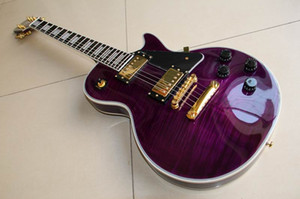 Free Shipping ! Wholesale New arrival G lp customl electric guitar mahogany body neck top quality in purple burst 110925