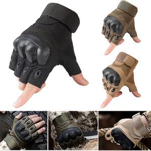 Новый 2018 Тактические Перчатки Hard Knuckle Half Finger Открытый Военная Подготовка Пейнтбол Мотокросс Bike Race Sport Высокое Качество