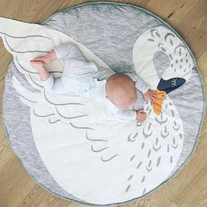 Swan blanket Baby Play Mat 2017 new Swan printed baby bedding Blanket Children's Room Decoration infant Crawling mat