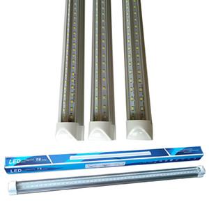 8피트는 V-모양 통합 T8 LED 튜브 더블 밝기는 형광등 2피트 18W 3t 28W 4피트 5피트 6피트 8피트 화이트 6000-6500K 주도 조명을 주도