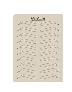 5 pçs / lote Latex Sobrancelha Tatuagem Prática Pele Falsa Prática Pele para Microblading Pen Tattoo Pele com forma de sobrancelha