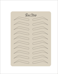 5 Adet / grup Lateks Kaş Dövme Uygulama Cilt Sahte Uygulama Cilt Mikroblading Kalem PMU Dövme Cilt Kaş Şekli