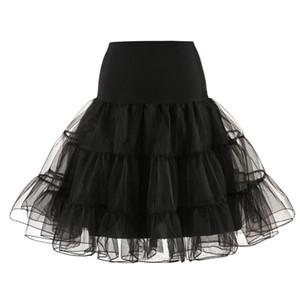 Eslieb Short Organza Petticoat Crinoline Enagua de la boda nupcial de la vendimia para los vestidos de boda Underderk Rockabilly