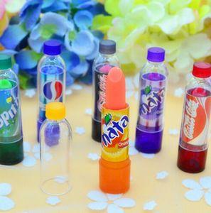 Neue Art und Weise 6pcs / lot Fantastische Coke Flasche Farbe ändern Make-up Lippenstift Long Lasting Feuchtigkeitsspendende Lip Gloss