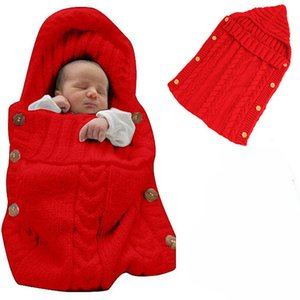 HOT Newborn Baby Wrap Swaddle Blanket baby Knit Sleeping Bag Sleep Sack Stroller Wrap for Baby toddle knitted blankets (0-6 Month) 9colors