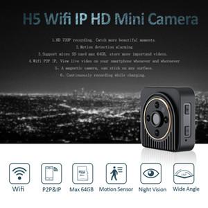 Cámara IP de WIFI mini cámara H5 720P HD Micro cámara de infrarrojos de visión nocturna cuerpo magnético de detección de movimiento Mini DV DVR
