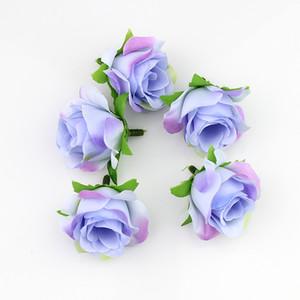 Flores decorativas Flores de seda artificiales Rose Head Diy Flower Ball festival decoración de la boda en casa 50pcs / lot