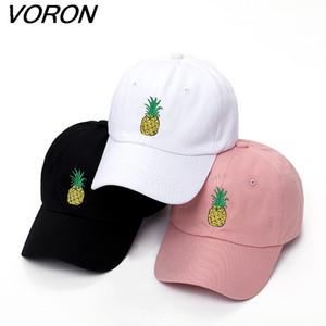 VORON erkekler kadınlar Ananas Baba Şapka Beyzbol Şapkası Polo Stil Oluşturulmamış Moda Unisex Baba kap şapkalar