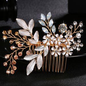 Moda Austria Crystal Stone Hair Combs Handmade Forcine da sposa Donne Gioielli per capelli Clip Accessori da sposa colorati JCH039