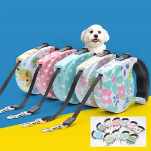 Correas retráctiles para perros 5M Cadena de plomo para mascotas Cat Puppy Correas para perros automáticas Walking Lead para mascotas pequeñas y medianas 11 colores DHL WX9-725