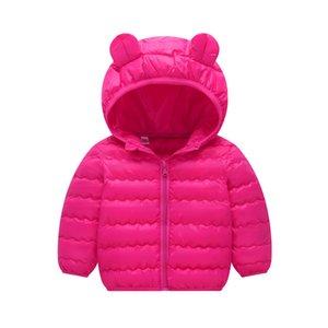 BibiCola 2018 novos meninos jaqueta de inverno casacos meninas bebê quente camisola jaqueta criança moda bebê para baixo roupas roupas com capuz