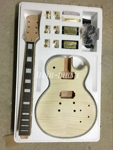 Quente! Brinkley unfinished Guitarra Elétrica Kit Com Flamed Maple Top DIY guitarra Para Custom Shop Estilo