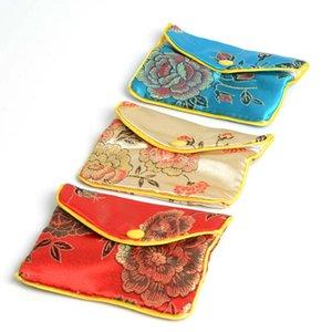 24X Farben 8 * 10cm Chinese Silk Beutel-Mappen-Münzen-Geldbeutel zufällige Farbe Beutel Schmuck Silk Geldbeutel-Beutel-Geschenk-Beutel